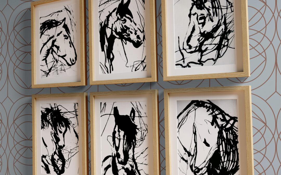 Stampe d'arte Carborundum Cavalli