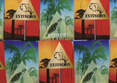 Poster Extincion – Illustrazione digitale